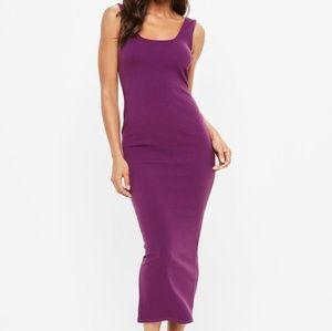 Missguided Purple Ankle Grazer Bodycon Maxi Dress